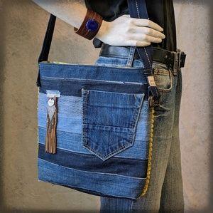 Upcycled Denim Handbag Bag Purse